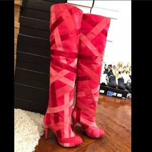Chanel Satin Runway Boots